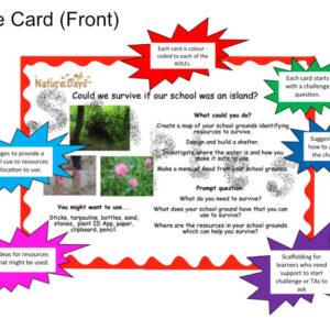 Sample challenge card - front